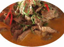 Ente mit Panang Curry Paste