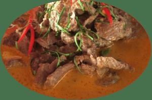 Ente mit Panang Curry Paste