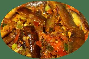 Indisches Auberginen-Curry mit Kartoffeln