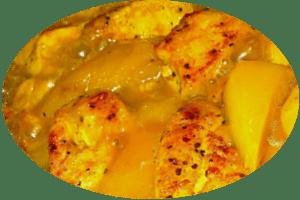 Putencurry mit Mango Chutney