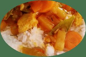 Reis süßsauer