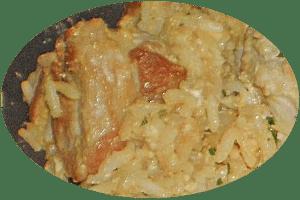 gebratener Reis mit gelbem Curry